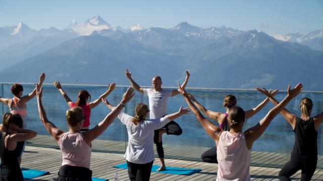 Yoga auf 2200 m Höhe!