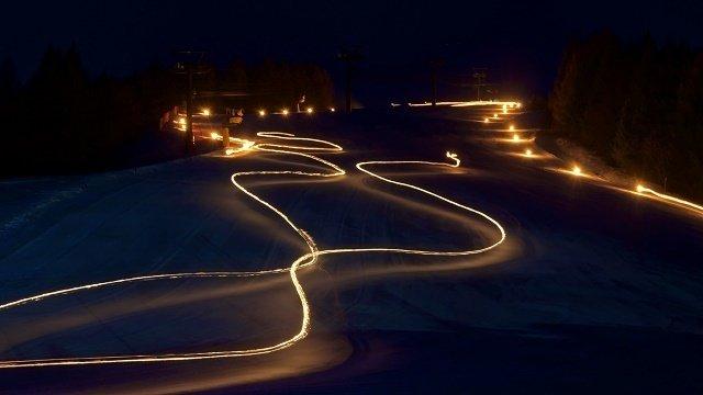 Torchlight ski descent