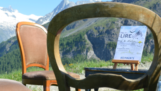 Reading in the mountains