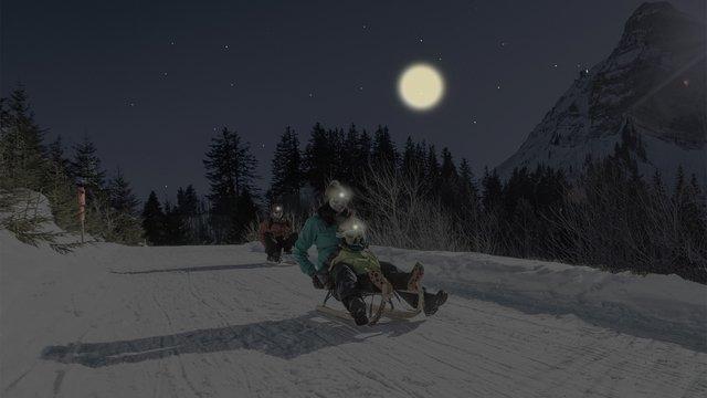 Nachtschlittelpiste Moléson