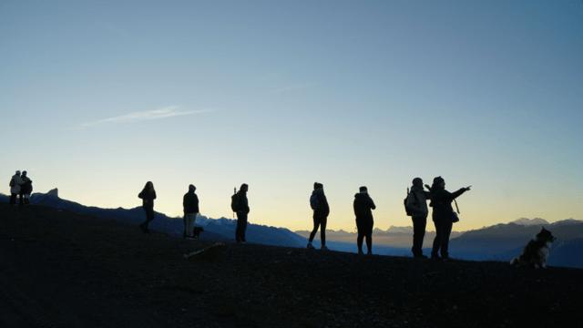 Sonnenaufgang auf 3000m