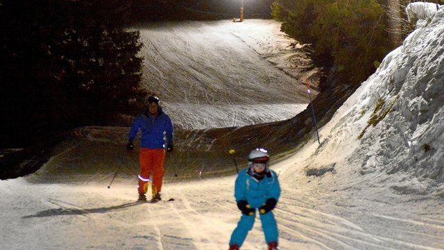 Night skiing in Schwarzsee