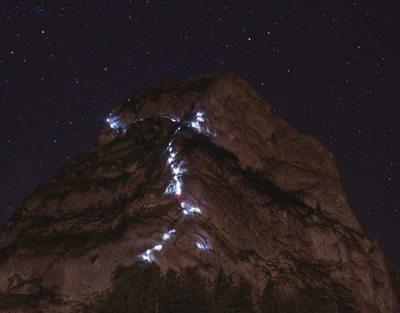 Via Ferrata mit Beleuchtung