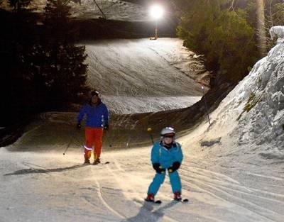 Night skiing in Schwarzsee